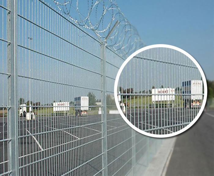 Galvanized Steel Mesh Airport Fence