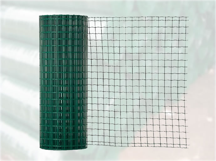 Green Coated Welded Wire Mesh Euro Fencing Trellis