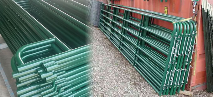 Hdg Steel Rails Welded Corral Panels And Gates For Cattle