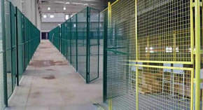 Polyester Coated Steel Wire Mesh Security Partition Lockers for Warehouse