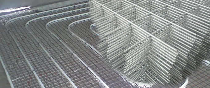 Welded Wire for Slab Tubing Spacing Protection