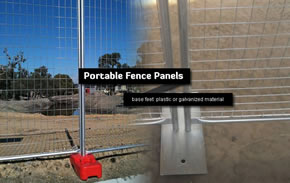 Galvanised Steel Temp Fencing Panels with Base Feet